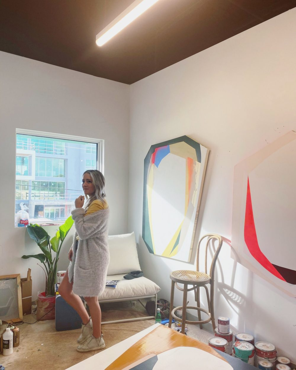 Emma Childs in her new studio