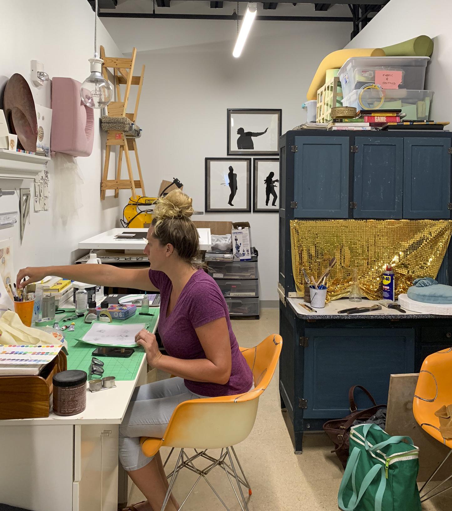 Zoe Alexa working in studio
