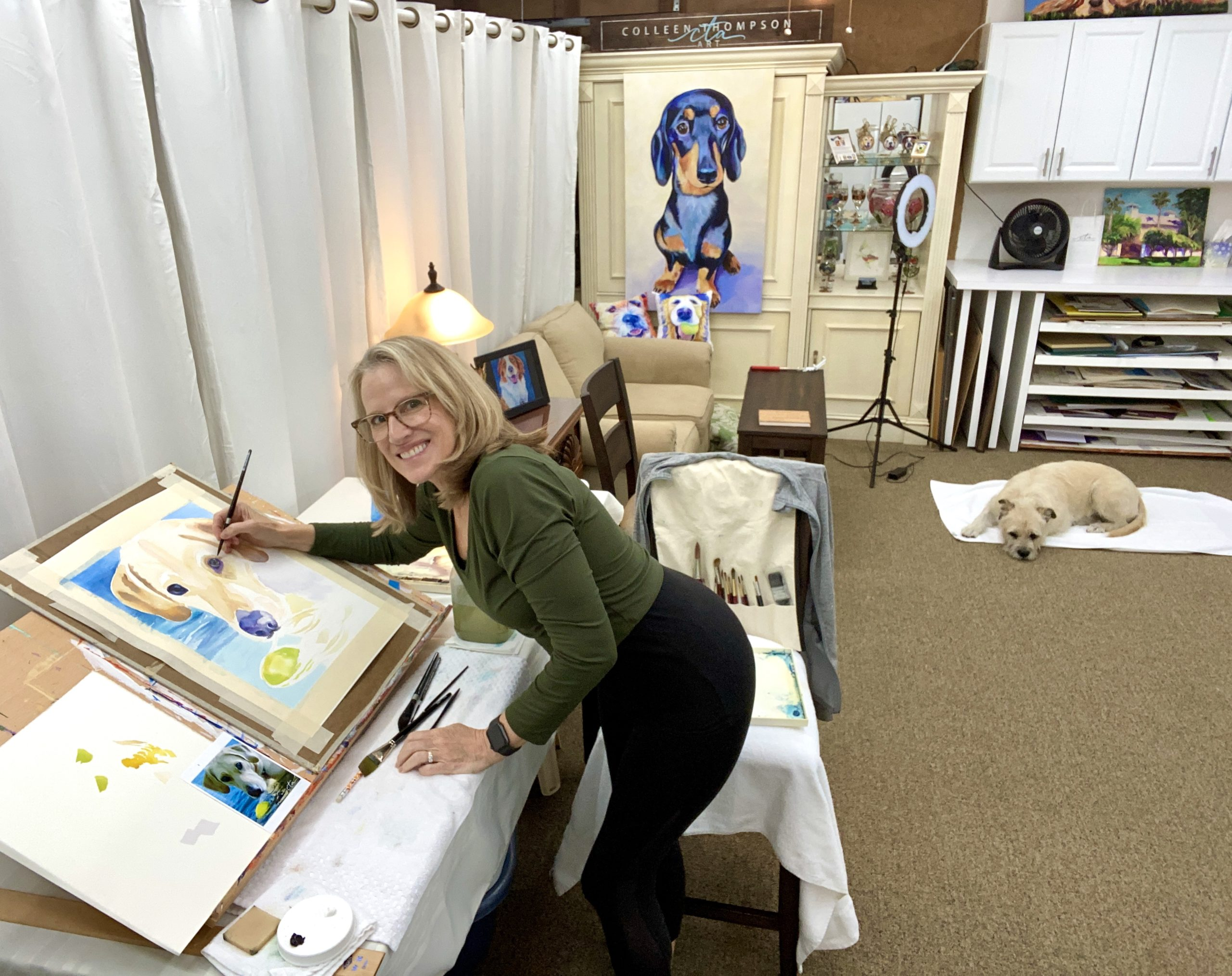 Colleen Thompson in new workspace