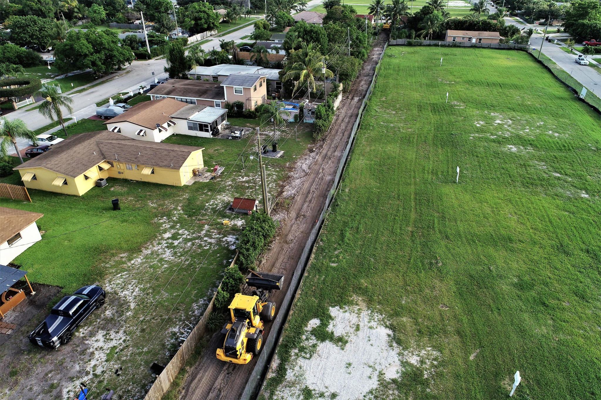 Aerial image of SW Neighborhood improvements in Delray Beach